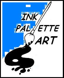 Ink Palette Art Logo blue