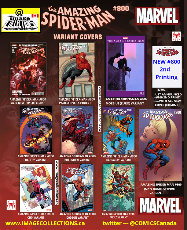 Amazing Spiderman 800 covers 2018
