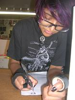 Comic Book Artist Jillian Dhakura at Image Collections Art Group at comic store Mississauga Streetsville Ontario Canada