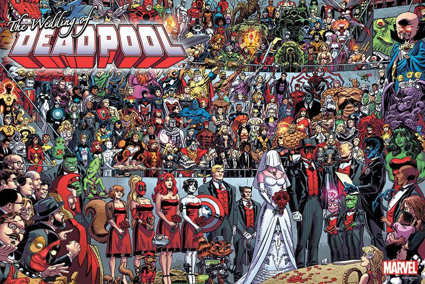 Deadpool Wedding Poster available at canadain comic stores Image Collections near Toronto