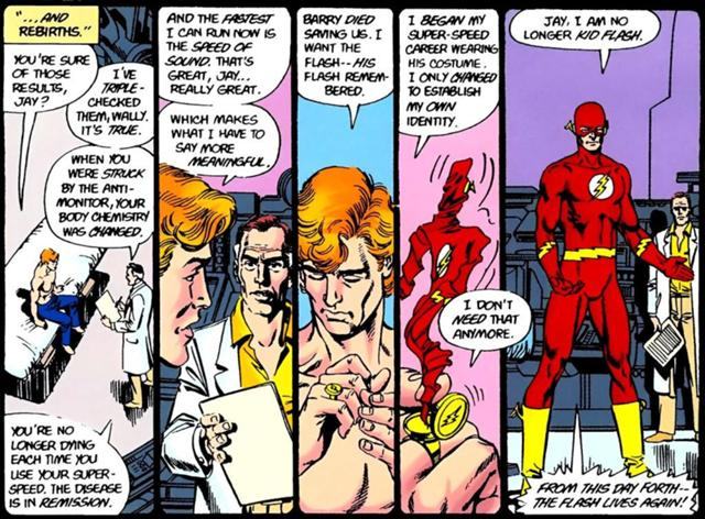 Flash begins as Wally West