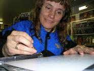 Michele Laframboise Artist at Image Collections comic store Mississauga Streetsville