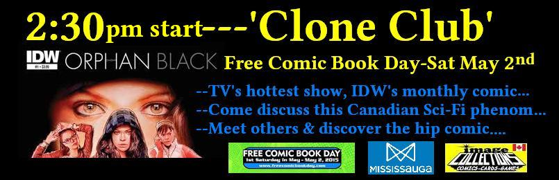 ORPHAN BLACK COMIC clone club meeting free comic book day at image collections comic store in canada