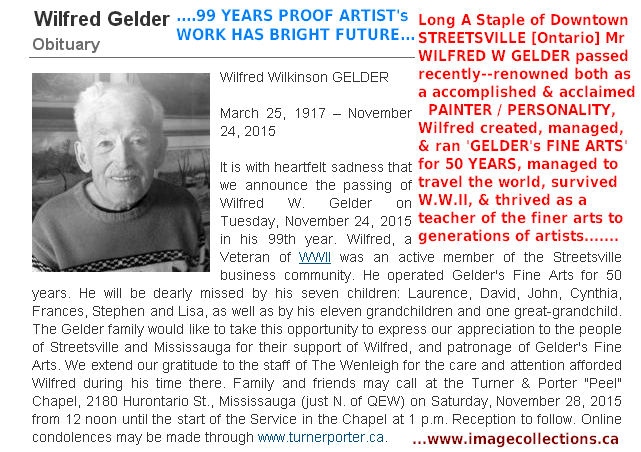 Wilfred Gelder Death Tuesday November 24 2015