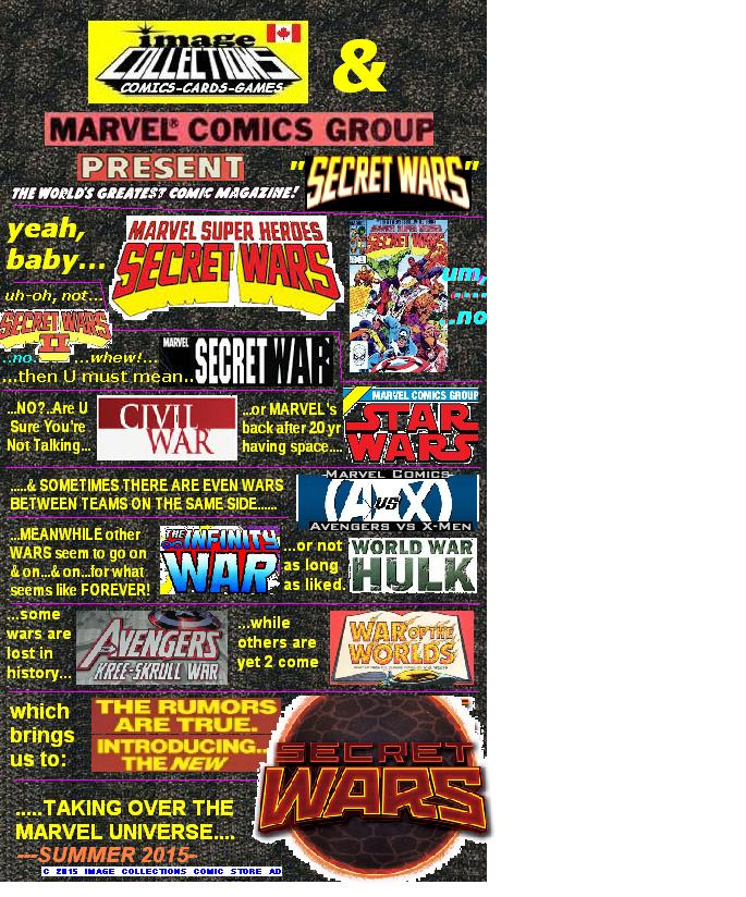 image collections comics presents SECRET WARS BANNER
